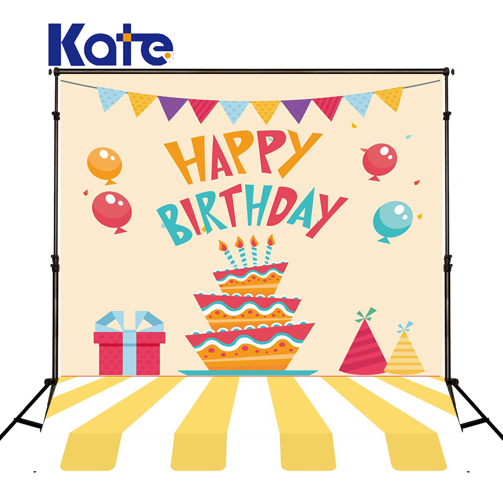 KATE Photo Background Birthday Backdrop Children Cartoon Background Cack And Globos Cumpleanos Infantiles For Newborn Shoot