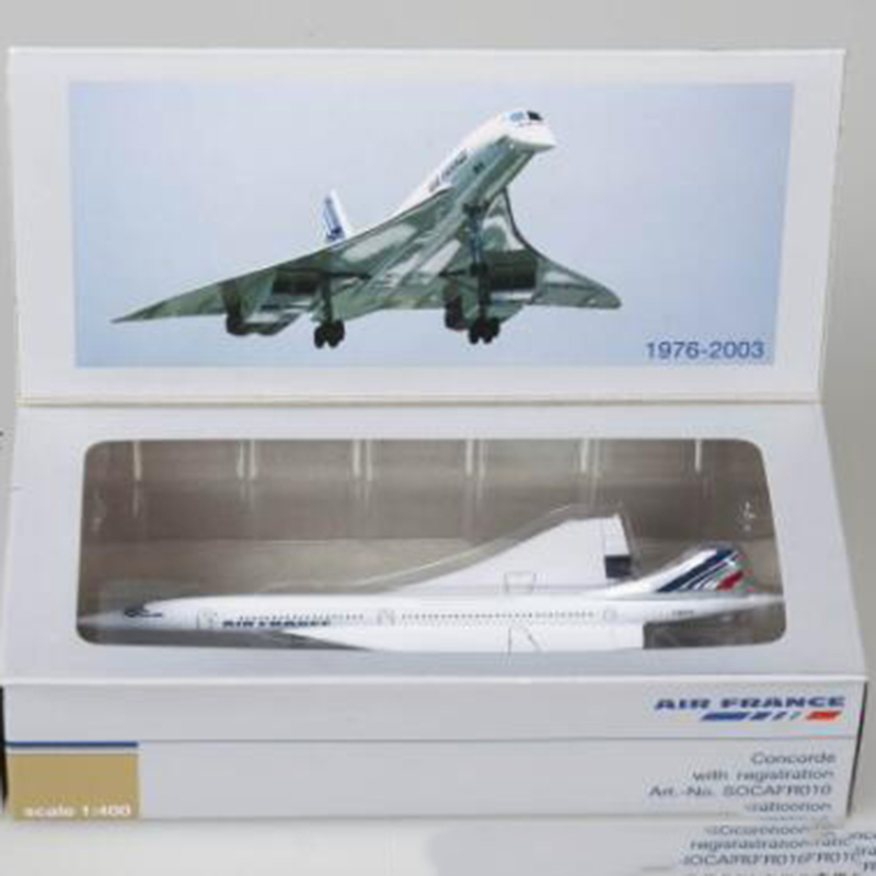 14CM 1:400 Concorde Air France 1976-2003 Airline Model Alloy Collectible Display Toys Airplane Model Collection Kids Children