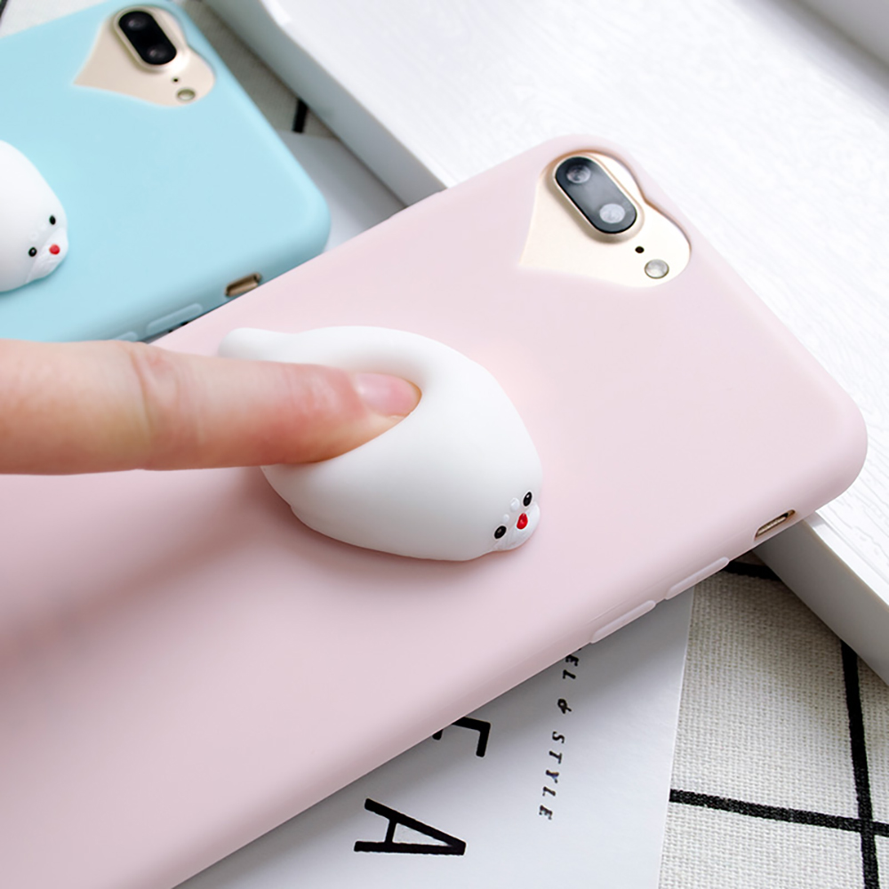 Cover iphone 5 squishy - Squishy Mobile Phone Case 3d Cute Sleep Cat Paw Phone Cover For Apple Iphone 5 5s