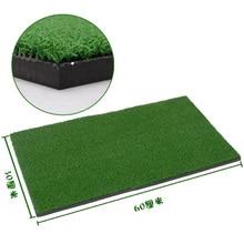60x30cm Backyard Golf Mat 12″x24″ Residential Training Hitting Pad Practice Rubber Tee Holder Grass Indoor
