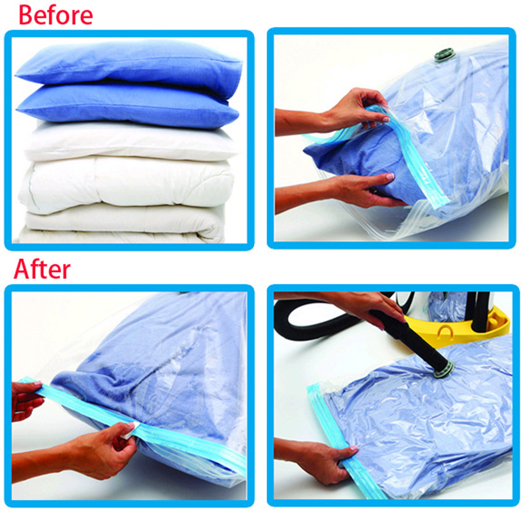 Aliexpress.com : Buy 6 Pack Large Space Saver Bag Storage Bag Vacuum Seal  Compressed Organizer Store Clothes Blankets Comforters Pillows From  Reliable Bags ...