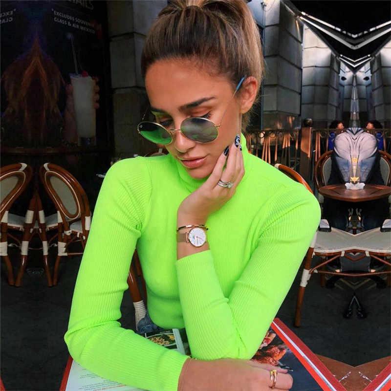 Pulóveres femeninos algodón poliéster completo Real Blusas De Inverno Feminina 2019 Jumper mujeres envío gratis estilo nuevo suéter Delgado
