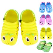 Fashion Kids Caterpillar Garden Slippers Child Boys Girls Slip Light Weight Beach Hole Sandals Baby Candy Home Outdoor Shoes(China)