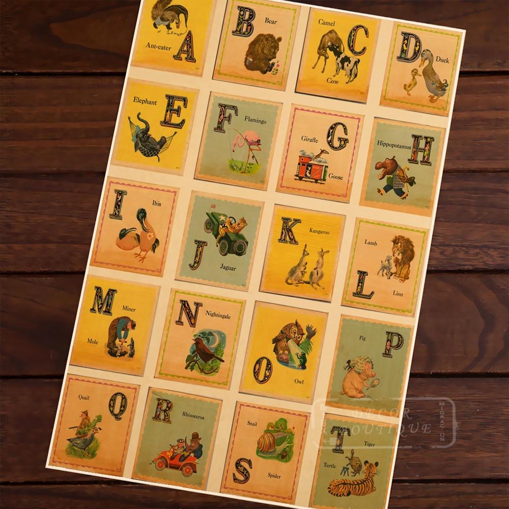 Vintage Indian Phonetic Alphabet Children Education Classic Vintage ...