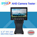 4.3 inch TFT LCD MONITOR COLOR Grip and Folding 1080P 2MP Two in One Surveillance Camera Tester Free Shipping