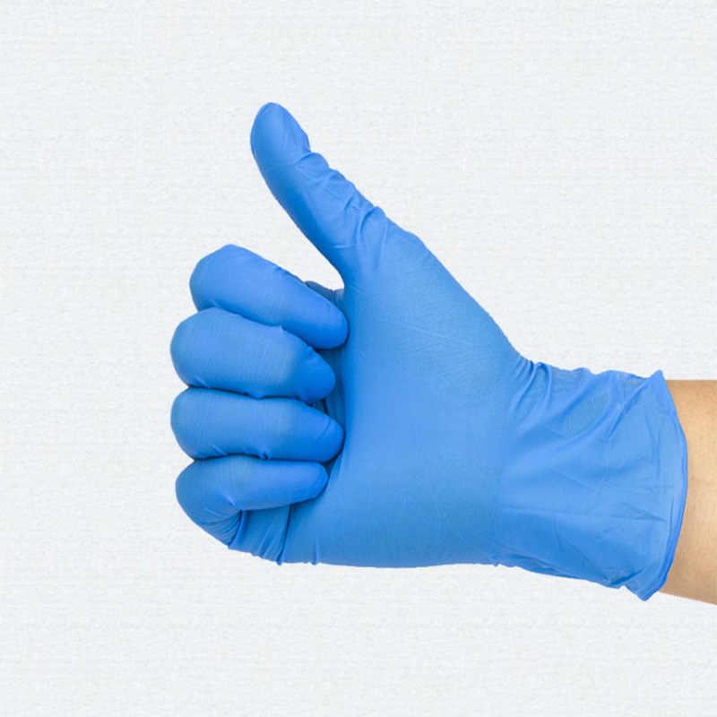 100 adet/takım Tek Kullanımlık Nitril Lateks Eldiven Ev Kullanımı Temizlik Pişirme medikal eldiven S M L Şekillendirici Aksesuarları H7JP