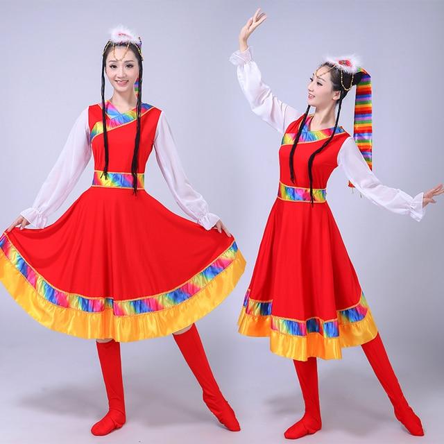 ac165b20f56d Women Tibetan Dance Costumes Mongolian Dance Costumed Clothing Stage ...