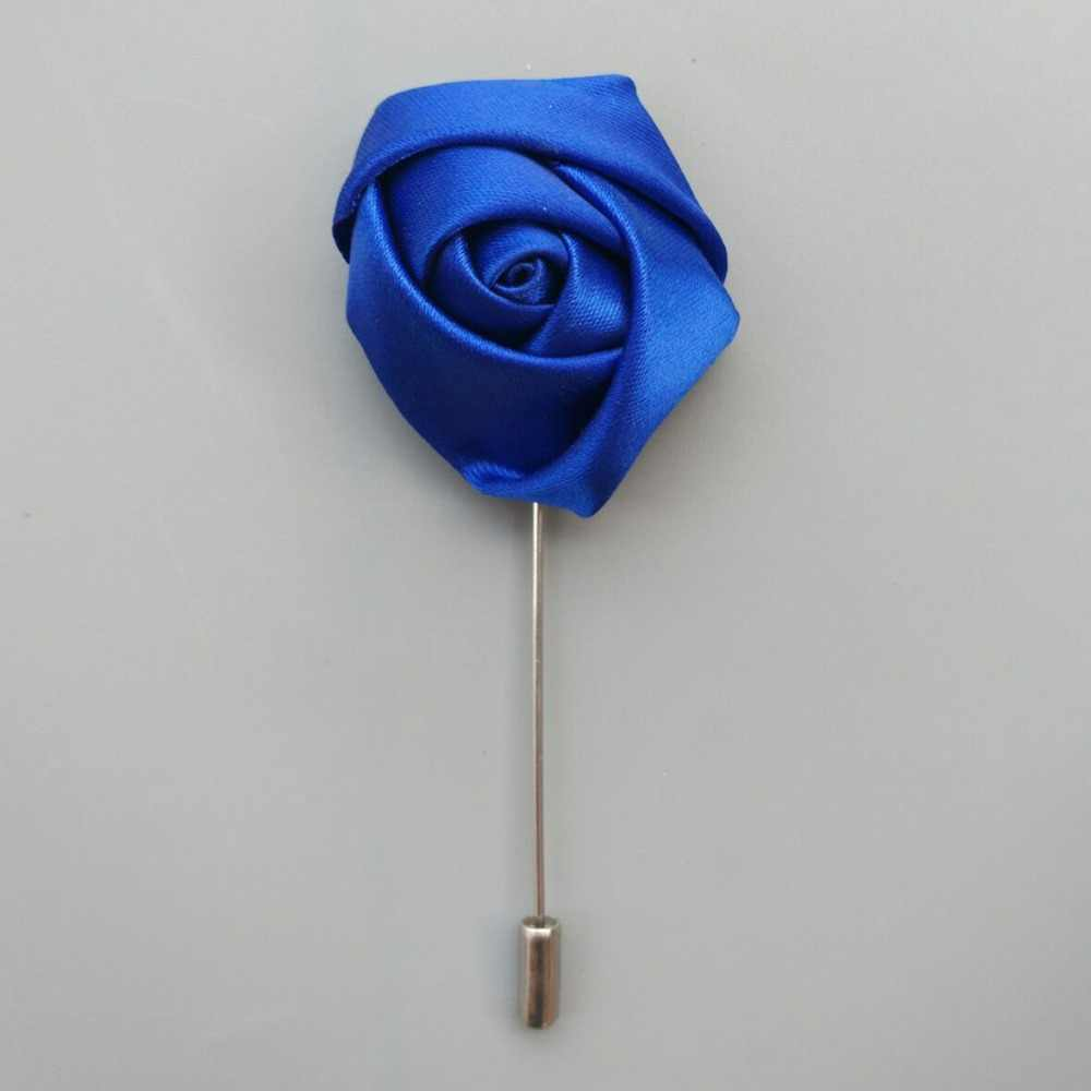 WifeLai-A (Wrist flower and boutonniere) Holding Bouquet  Royal Blue Mixed Silver silk wrist flower Wedding Bridal Bouquet Set
