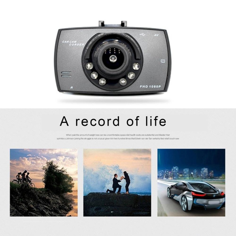 2.7 inch 6 Lights Night Vision Dual Lens Car DVR Camera Full HD 1080P Wide Angle External Rear Camera H.264 G-sensor Dash Cam