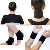 Turmalina auto calefacción terapia magnética Masajeadores de cuello pad Muñequeras turmalina Tobilleras masaje cinturón