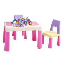 Игровой стол, игрушечный стол для детского сада, детский стол и Набор стульев, Детский многофункциональный пластиковый письменный стол
