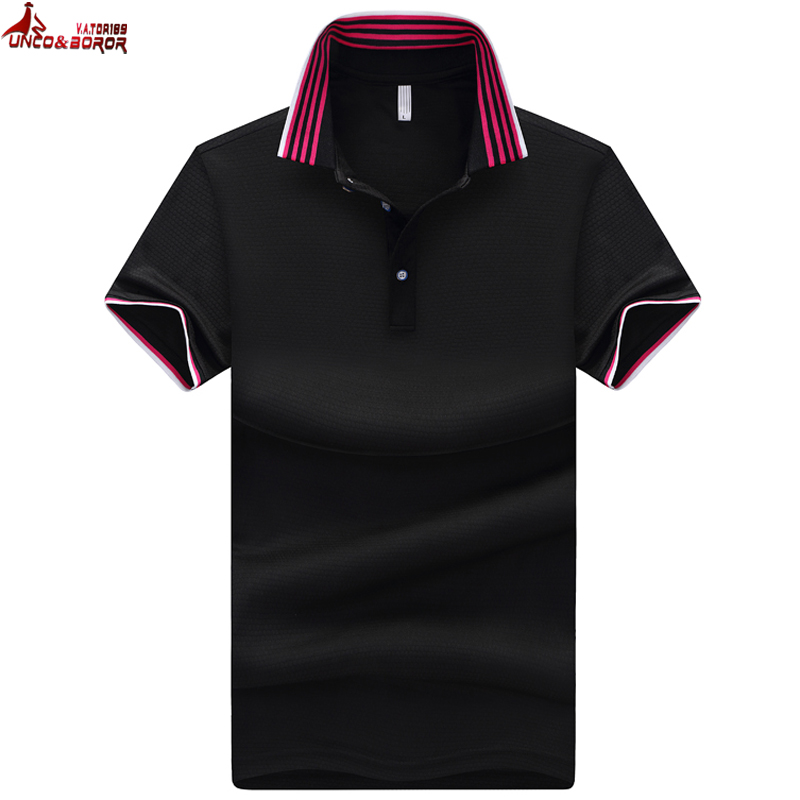 UNCO&BOROR summer Men   Polo   Shirt Solid Color   Polo   Shirts Camisa Masculina Men's Casual Short Sleeve work   Polos   hombre jerseys