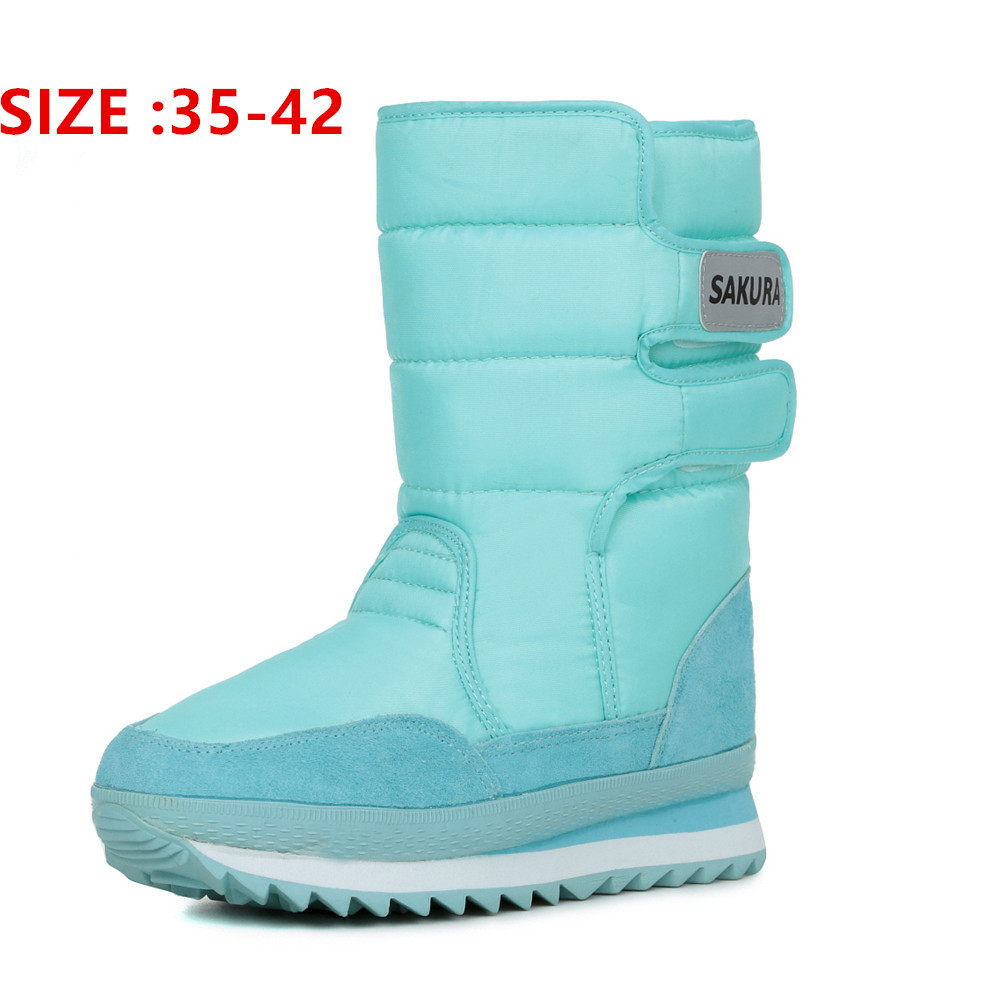 font b Woman b font boots Warm Ladies winter boots colorful snow boot 2016 fashion