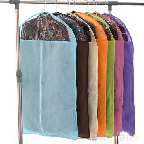 Home Dress Clothes Garment Suit Cover Zipper Bags Dustproof Storage Protector size S M L 02UW 3T2D