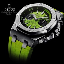 DIDUN Mens Watches Top Brand Luxury Watch men Sports Diver Watches Military Quartz WristWatch Water Resistant Clock Men