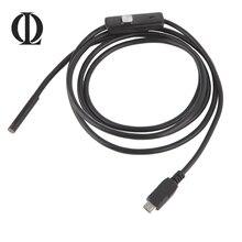 1/1. 5 M Endoscópio Mini Câmera HD À Prova D' Água Inspeção Cabo USB LEVOU Endoscópio Serpente Tubo 7mm Lente para Android Telefone PC