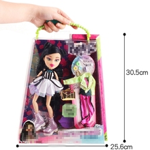 Bratz Study Abroad Doll Beautiful Clothes Dress Up Doll For Baby Kids Gift цены