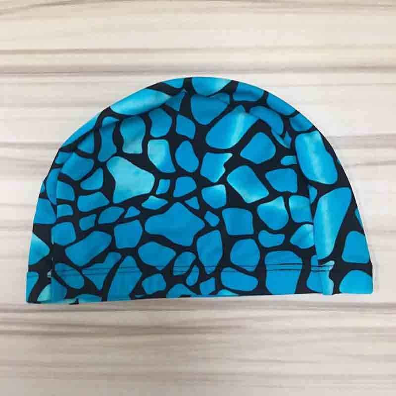 เด็กการ์ตูนยืดหยุ่นพิมพ์หมวกว่ายน้ำกีฬาสระว่ายน้ำชุดว่ายน้ำน่ารักหมวกว่ายน้ำเด็ก/เด็ก/ชาย/Babys ว่ายน้ำ CapsAA350