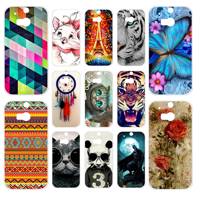 Anunob Case For HTC One M8 M8s Soft Silicone Back Cover M8S 3D Printing Couque Bags Capa m8 Fundas