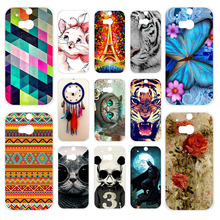 цена на Anunob Case For HTC One M8 M8s Soft Silicone Back Cover For HTC One M8S M8 3D Printing Couque Bags Capa For HTC M8 m8 Fundas