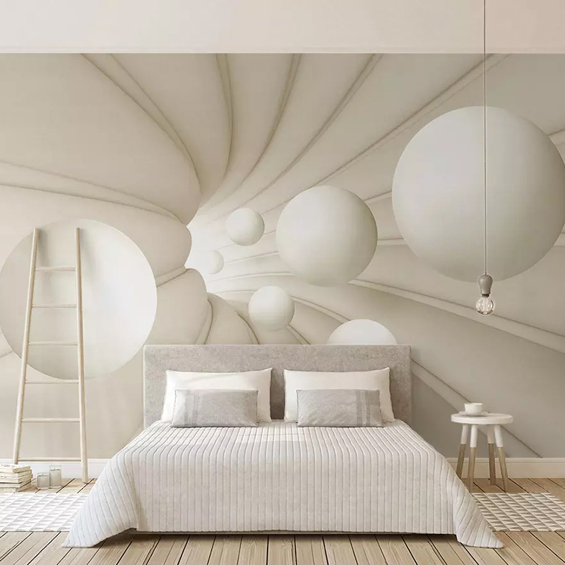 Custom Photo Mural Wallpaper 3D Stereoscopic Abstract Space Circle Ball Background Wall Decoration Painting Living Room Bedroom