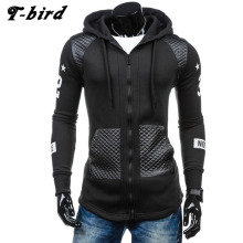 T-bird Hoodies Men 2017 Brand Male Long Sleeve Hoodie Decorative Pocket Sweatshirt Man Cardigan Moletom Masculino Men's Hoodie