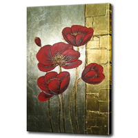 Decorative Oil Painting On Canvas Modern Handmade Oil Painting For Bedroom Abstract Flowers Canvas Art