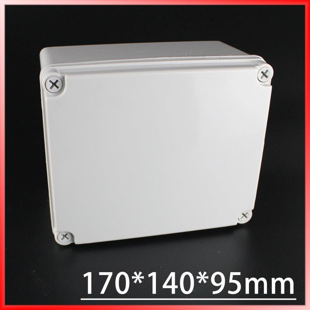 цена на 170*140*95mm IP67 Waterproof Plastic Electronic Project Box w/ Fix Hanger Plastic Waterproof Enclosure Box Housing Meter Box