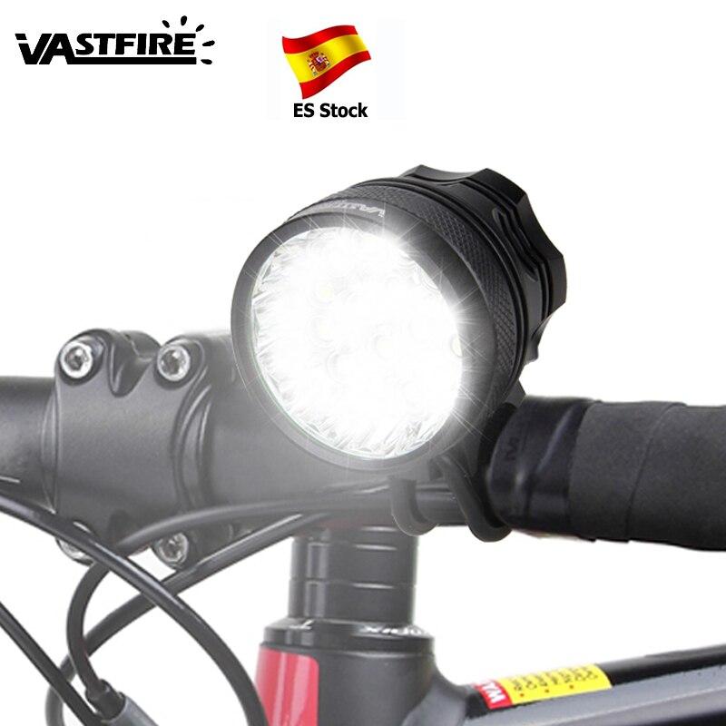 Rechargeable 12000 mAh batterie 30000lm 16x XML T6 LED 3 Modes vélo lumière LED vélo avant lumière phare lampe vélo accessoires