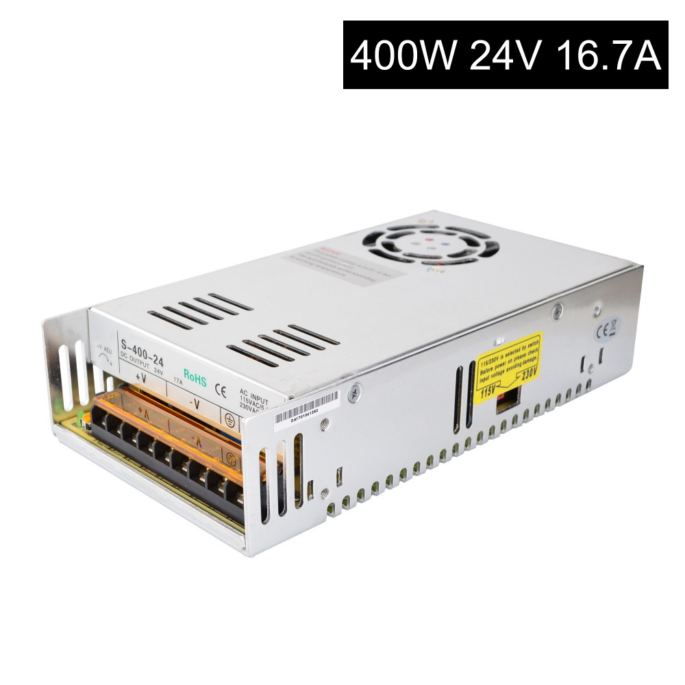 DC24V 400W 16.7A Switching Power Supply 115V/230V to Stepper Motor 3D Printer/CNC dc48v 500w 10 4a switching power supply 115v 230v to stepper motor diy cnc router
