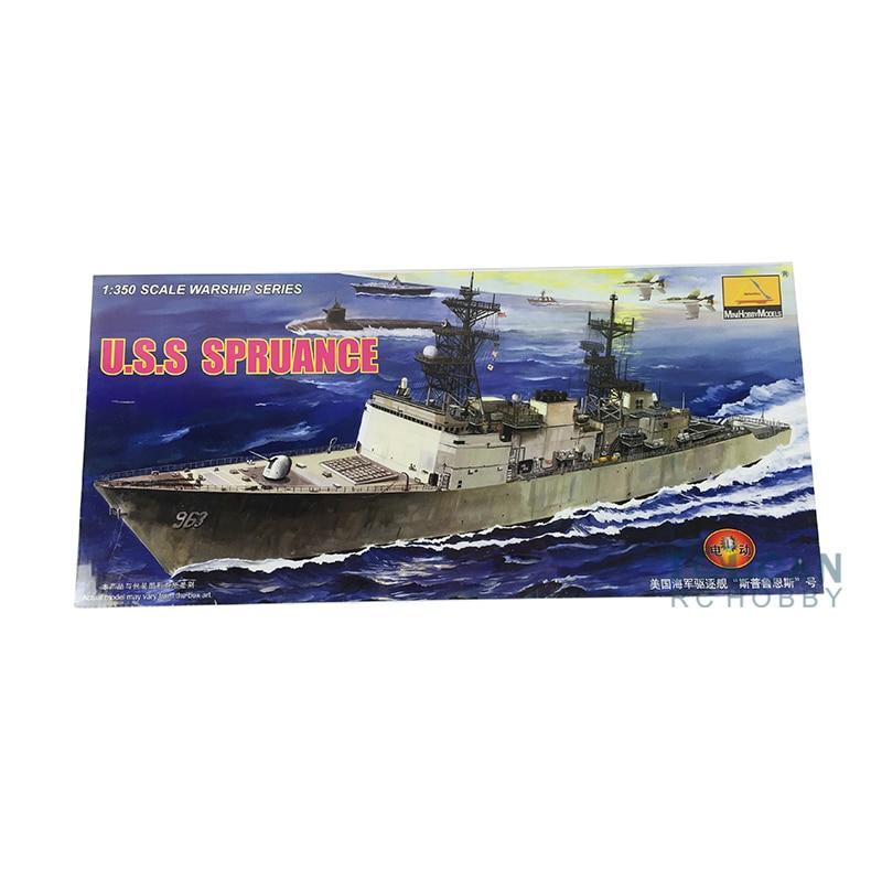 Trumpeter 80703 1 350 Motor U S S Spruance Hill Modern Battleship Warship Model