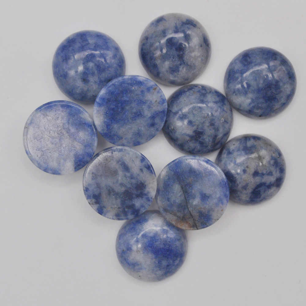 16MM Brazilian Sodalite Stone Round CAB GEM Cabochon Jewelry For Gift Bead (10 pcs/lot) H239