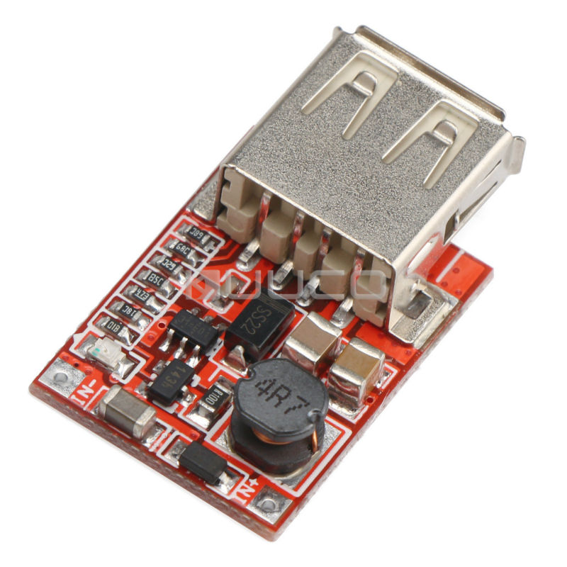 Power Supply Module <font><b>DC</b></font> <font><b>1</b></font>~5V to <font><b>5</b></font>.<font><b>1</b></font>~<font><b>5</b></font> .<font><b>2</b></font> V <font><b>1</b></font>.5A Boost Voltage Regulator/<font><b>USB</b></font> Charger/Adapter for Cell Phone / MP3 / MP4/ PSP etc image