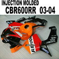 Moto Injection Molding road fairings kit for Honda repsol CBR600RR 2003 2004 CBR 600 RR 03 04 ABS plastic fairing body set
