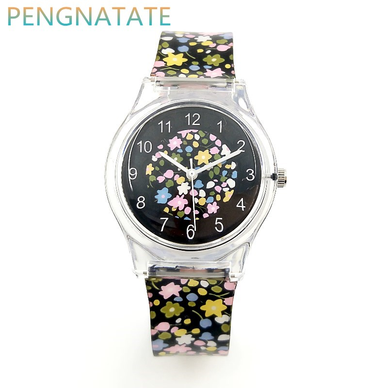 WILLIS Brand Fashion Women Watches Retro Flowers Silicone Ladies Leisure Clock Watch Dress Quartz Waterproof Watches PENGNATATE цена 2017