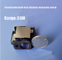 Free shipping Second generation laser distance measuring sensor 50M + 1mm Max frequency 20HZ distance measuring module