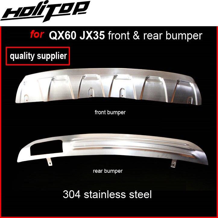 Per INFINITI JX JX35 QX QX60 304 piastra paramotore in acciaio inox/paraurti protezione della protezione, 2013-2016.front e posteriore. La protezione necessaria.