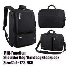 Hombre Mujer bolsa de Negocios Laptop Backpack 15.6 17 17.3 pulgadas a prueba de agua Portátil de Viaje Bolsa de múltiples funciones del bolso Para Macbook Pro de Aire Hp