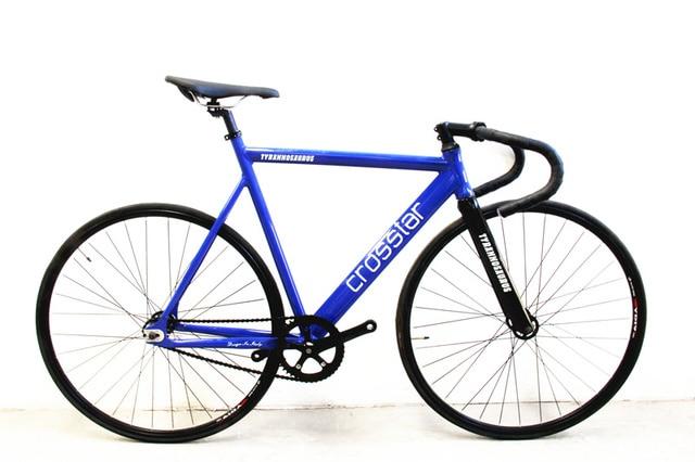66763298f Crosstar Tyrans T2 Fixed Gear Bike Urban Track Bike Fixie Carbon Fiber Fork  Commute Bike 15mm road bike fixie bicycle bicicleta