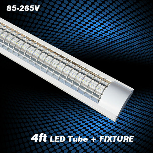 1 2m Explosion Proof Led Lights Replace Fluorescent Light Fixture Ceiling Grille Lamp