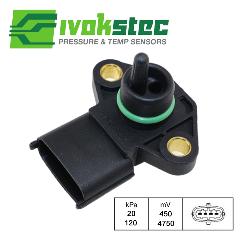 5 PCS  Lot Brand New Manifold Absolute Pressure (MAP) Sensor For Hyundai Vehicles Accent Elantra 1.6 2.0 39300-22600