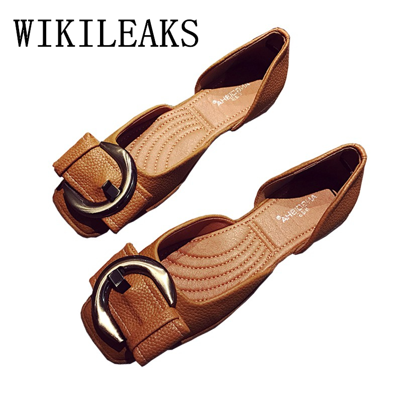 ladies Square Toe flat shoes woman zapatillas mujer casual fashion buckle slip on loafers women shoes leather mocassin femme vtota shoes woman flat summer shoes fashion genuine leather single shoes 2017 new zapatillas mujer casual flats women shoes b44