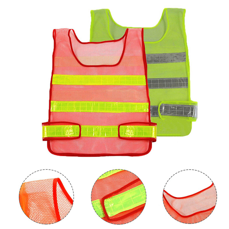Reflective Vest High Visibility Reflective Safety Vest Multi Pockets Workwear Safety Waistcoat Traffic Warning Service Safety