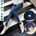 Осень Горячей Продажи Новой Моды Беременных джинсовые брюки уход живота большой ярдов верхней одежды брюки ноги карандаш брюки Эластичный Пояс