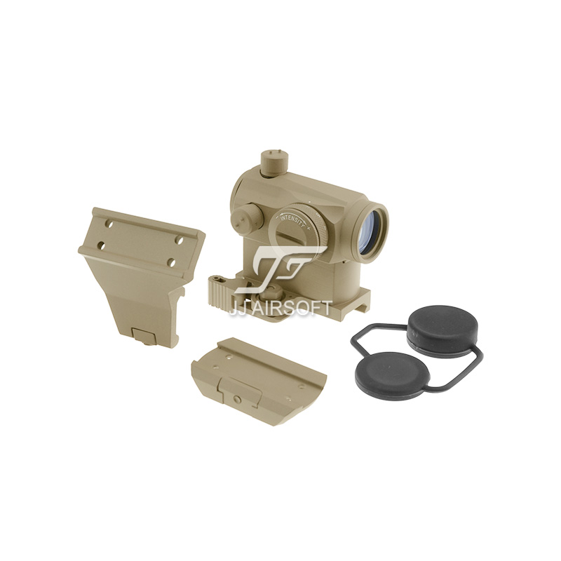 TARGET Micro 1x24 Red Dot with QD Riser Mount ,CNC Low Mount, 45-Degree Offset Mount (Tan) LT660, LT660HK or LT661