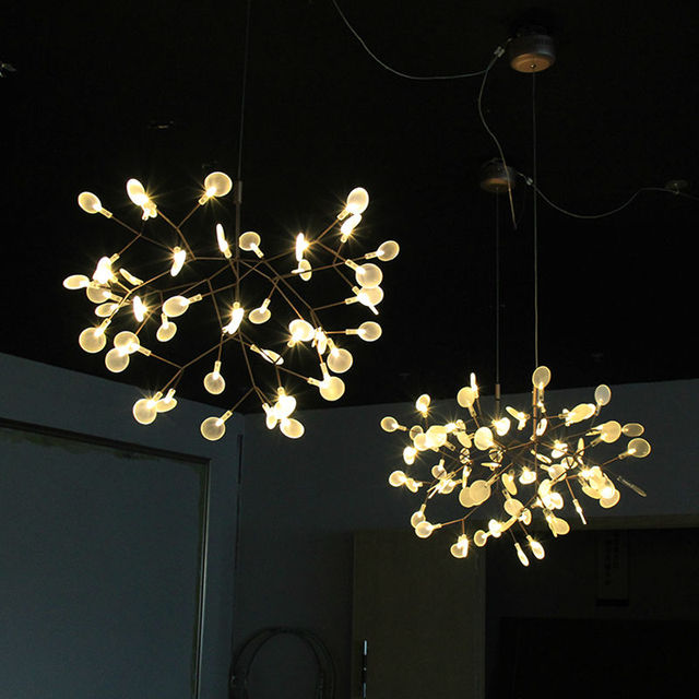 Modern pendant lights for living room with led chips lovely leaf modern pendant lights for living room with led chips lovely leaf acrylic lamp shades remote control aloadofball Image collections