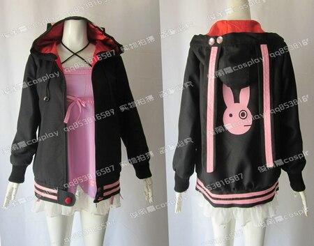 Vocaloid 3 Yukari Yuzuki Cosplay Anime Costume Hooded Jacket Coat Size:S M L