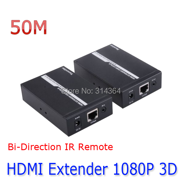 HDMI EXTENDER IR over a Single CAT5e/6 Ethernet Cable 50M Bi-Direction IR Remote HDCP 1080P