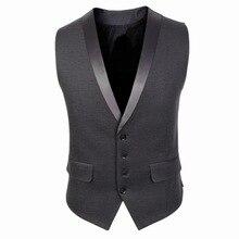 Новое поступление, модный жилет для мужчин, приталенный мужской костюм, жилет, повседневный жилет без рукавов, формальный деловой Топ, куртка