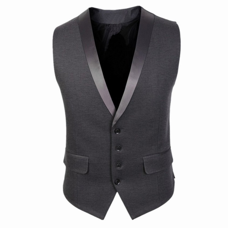 New Arrival Fashion  Gilet Homme Dress Vests Slim Fit Mens Suit Vest Male WaistcoatCasual Sleeveless Formal Business Top Jacket